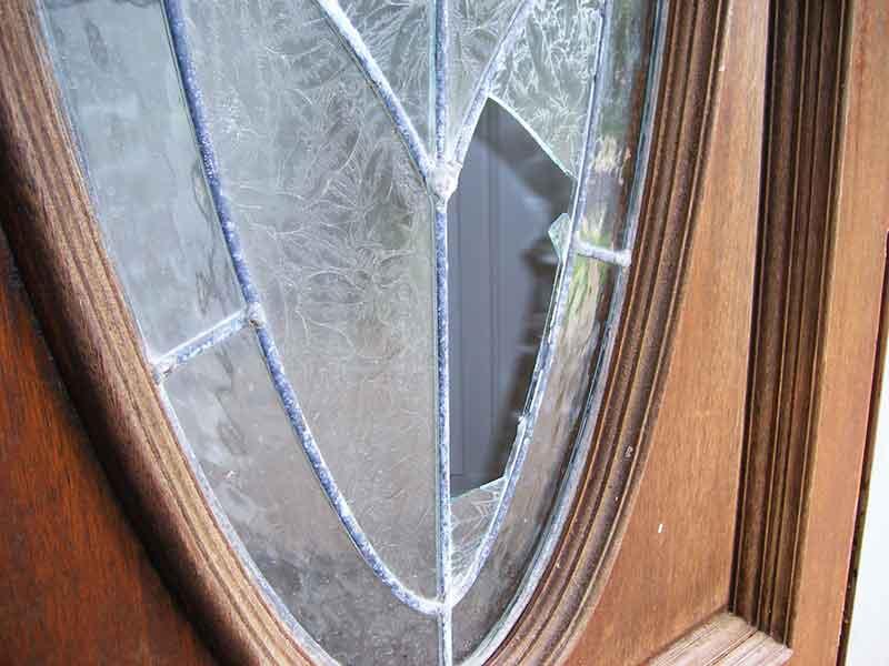 broken door glass