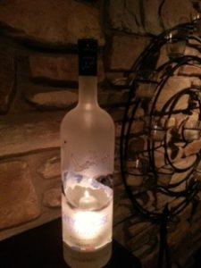 bottle cutting lighted bottle